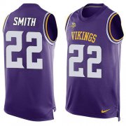 Wholesale Cheap Nike Vikings #22 Harrison Smith Purple Team Color Men's Stitched NFL Limited Tank Top Jersey