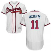 Wholesale Cheap Braves #11 Ender Inciarte White Flexbase Authentic Collection Stitched MLB Jersey