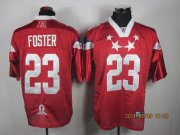 Wholesale Cheap Texans #23 Arian Foster 2011 Red Pro Bowl Stitched NFL Jersey