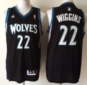 Wholesale Cheap Minnesota Timberwolves #22 Andrew Wiggins Revolution 30 Swingman Black Jersey