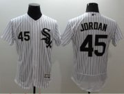 Wholesale Cheap White Sox #45 Michael Jordan White(Black Strip) Flexbase Authentic Collection Stitched MLB Jersey