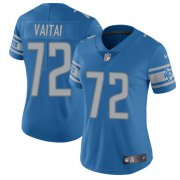 Wholesale Cheap Nike Lions #72 Halapoulivaati Vaitai Blue Team Color Women's Stitched NFL Vapor Untouchable Limited Jersey