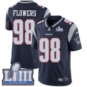 Wholesale Cheap Nike Patriots #98 Trey Flowers Navy Blue Team Color Super Bowl LIII Bound Youth Stitched NFL Vapor Untouchable Limited Jersey