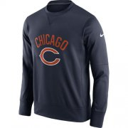 Wholesale Cheap Men's Chicago Bears Nike Navy Sideline Circuit Performance Sweatshirt