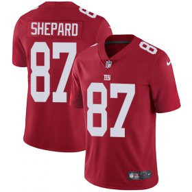 Wholesale Cheap Nike Giants #87 Sterling Shepard Red Alternate Youth Stitched NFL Vapor Untouchable Limited Jersey