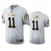 Wholesale Cheap Washington Redskins #11 Alex Smith Men's Nike White Golden Edition Vapor Limited NFL 100 Jersey