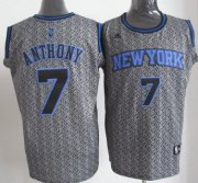Wholesale Cheap New York Knicks #7 Carmelo Anthony Gray Static Fashion Jersey