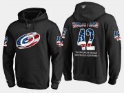 Wholesale Cheap Hurricanes #42 Joakim Nordstrom NHL Banner Wave Usa Flag Black Hoodie