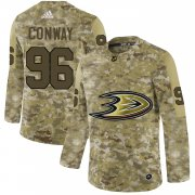 Wholesale Cheap Adidas Ducks #96 Charlie Conway Camo Authentic Stitched NHL Jersey