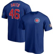 Wholesale Cheap Chicago Cubs #46 Lee Smith Majestic 2019 Hall of Fame Induction Name & Number T-Shirt Royal