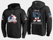 Wholesale Cheap Avalanche #52 Adam Foote NHL Banner Wave Usa Flag Black Hoodie