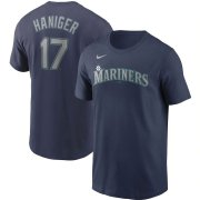 Wholesale Cheap Seattle Mariners #17 Mitch Haniger Nike Name & Number T-Shirt Navy