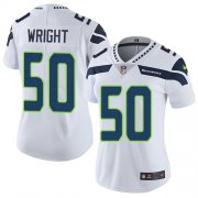 Wholesale Cheap Nike Seahawks #50 K.J. Wright White Women's Stitched NFL Vapor Untouchable Limited Jersey