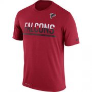 Wholesale Cheap Men's Atlanta Falcons Nike Practice Legend Performance T-Shirt Red