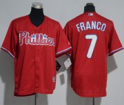 Wholesale Cheap Phillies #7 Maikel Franco Red Cool Base Stitched Youth MLB Jersey