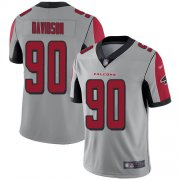 Wholesale Cheap Nike Falcons #90 Marlon Davidson Silver Youth Stitched NFL Limited Inverted Legend Jersey