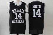 Wholesale Cheap Bel-Air 14 Smith Black Stitched Basketball Jersey
