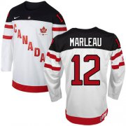 Wholesale Cheap Olympic CA. #12 Patrick Marleau White 100th Anniversary Stitched NHL Jersey