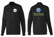 Wholesale Cheap NFL Pittsburgh Steelers Victory Jacket Black_1