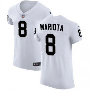 Wholesale Cheap Nike Raiders #8 Marcus Mariota White Men's Stitched NFL New Elite Jersey