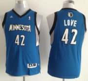 Cheap Minnesota Timberwolves #42 Kevin Love Blue Kids Jersey