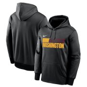 Wholesale Cheap Washington Redskins Football Team Nike Sideline Impact Lockup Performance Pullover Hoodie Black