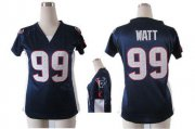 Wholesale Cheap Nike Texans #99 J.J. Watt Navy Blue Team Color Draft Him Name & Number Top Women's Stitched NFL Elite Jersey