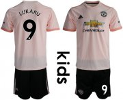 Wholesale Cheap Manchester United #9 Lukaku Away Kid Soccer Club Jersey