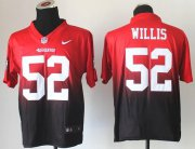 Wholesale Cheap Nike 49ers #52 Patrick Willis Red/Black Men's Stitched NFL Elite Fadeaway Fashion Jersey