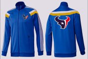 Wholesale Cheap NFL Houston Texans Team Logo Jacket Blue_3