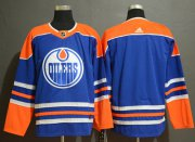 Wholesale Cheap Adidas Oilers Blank Royal Blue Alternate Authentic Stitched NHL Jersey