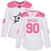 Wholesale Cheap Adidas Stars #90 Jason Spezza White/Pink Authentic Fashion Women's Stitched NHL Jersey