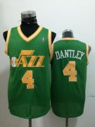 Wholesale Cheap Utah Jazz #4 Adrian Dantley Green Swingman Throwback Jersey