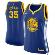 Wholesale Cheap Nike Golden State Warriors #35 Kevin Durant Blue Women's NBA Swingman Icon Edition Jersey