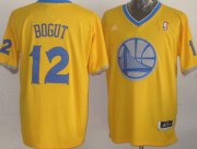 Wholesale Cheap Golden State Warriors #12 Andrew Bogut Revolution 30 Swingman 2013 Christmas Day Yellow Jersey