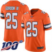 Wholesale Cheap Nike Broncos #25 Melvin Gordon III Orange Men's Stitched NFL Limited Rush 100th Season Jersey