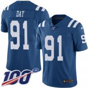 Wholesale Cheap Nike Colts #91 Sheldon Day Royal Blue Youth Stitched NFL Limited Rush 100th Season Jersey