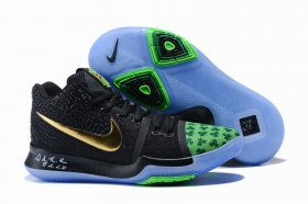 Wholesale Cheap Nike Kyire 3 Black Blue Gold-logo