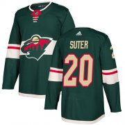 Wholesale Cheap Adidas Wild #20 Ryan Suter Green Home Authentic Stitched Youth NHL Jersey