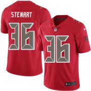 Wholesale Cheap Nike Buccaneers #36 M.J. Stewart Red Men's Stitched NFL Limited Rush Jersey