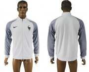 Wholesale Cheap France Soccer Jackets White