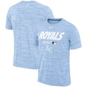 Wholesale Cheap Kansas City Royals Nike Authentic Collection Velocity Team Issue Performance T-Shirt Light Blue