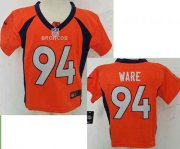 Wholesale Cheap Toddler Nike Broncos #94 DeMarcus Ware Orange Team Color Stitched NFL Elite Jersey
