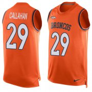 Wholesale Cheap Nike Broncos #29 Bryce Callahan Orange Team Color Men's Stitched NFL Limited Tank Top Jersey