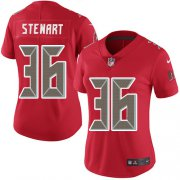 Wholesale Cheap Nike Buccaneers #36 M.J. Stewart Red Women's Stitched NFL Limited Rush Jersey
