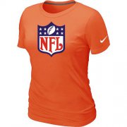 Wholesale Cheap Women's Nike NFL Logo NFL T-Shirt Light Orange