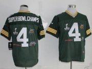 Wholesale Cheap Nike Packers #4 Superbowlchamps Green Team Color Men's Stitched NFL Limited Jersey