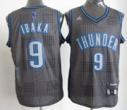 Wholesale Cheap Oklahoma City Thunder #9 Serge Ibaka Black Rhythm Fashion Jersey
