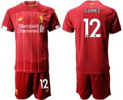 Wholesale Cheap Liverpool #12 Gomez Red Home Soccer Club Jersey