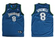 Wholesale Cheap Minnesota Timberwolves #8 Latrell Sprewell Blue Swingman Jersey